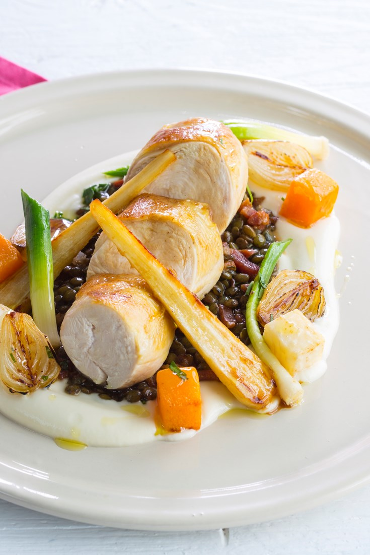 Chicken With Lentils A La Fran 231 Aise Recipe Great British