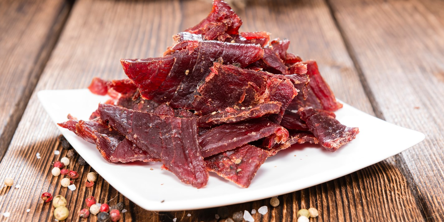 Image of homemade jerky for snacking at work