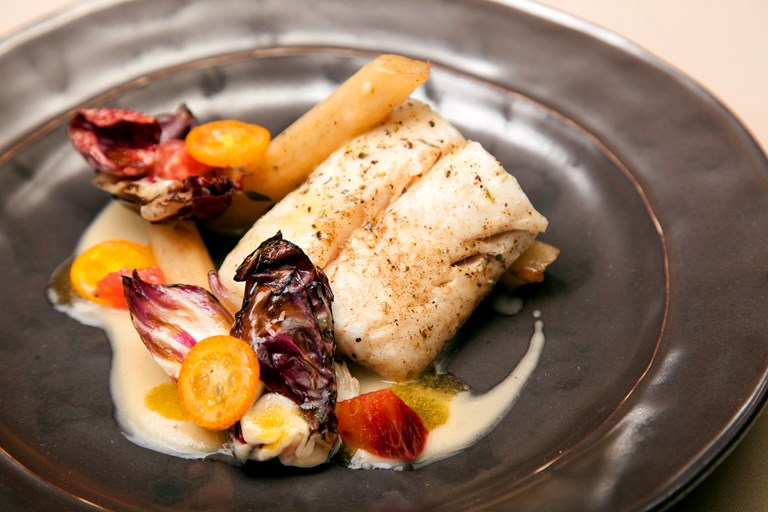 Roasted Hake Recipe With Radicchio Great British Chefs