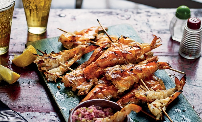 Jamestown grilled prawns