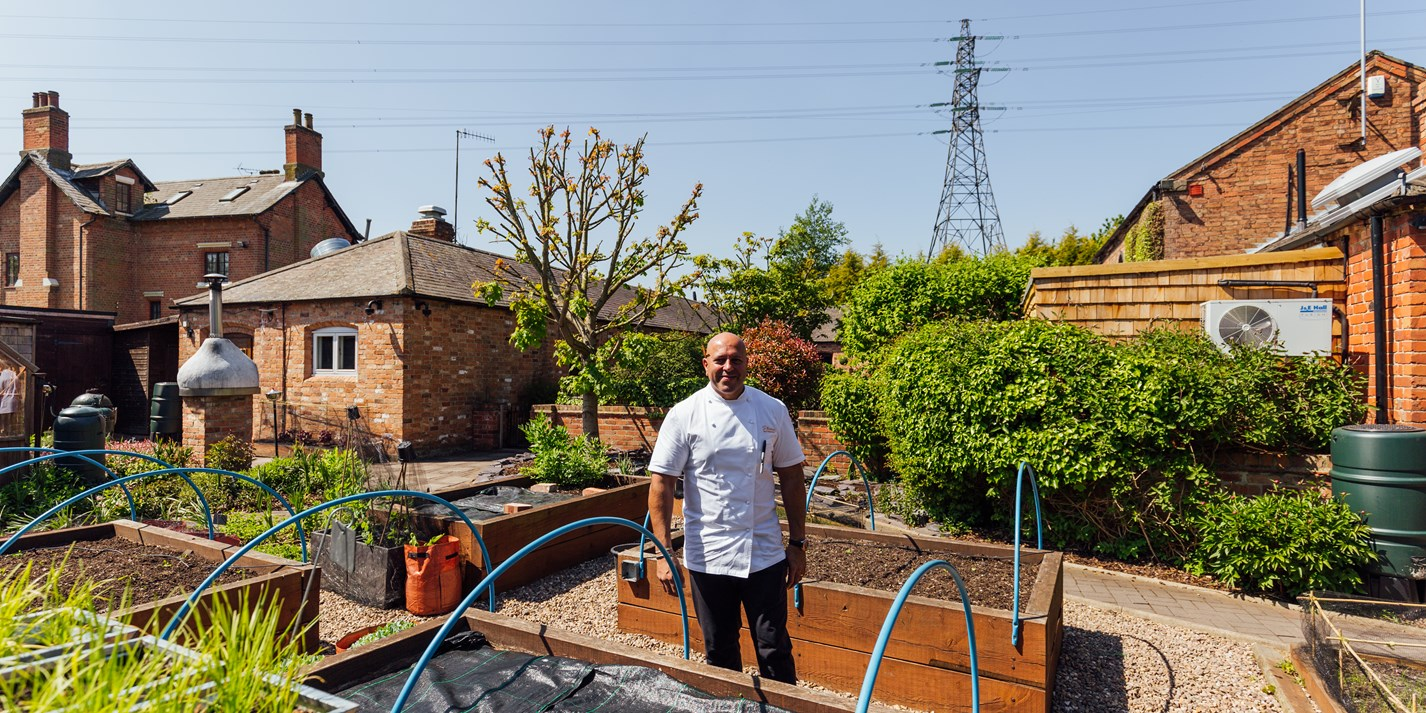 Pylon produce: Sat Bains' urban kitchen garden