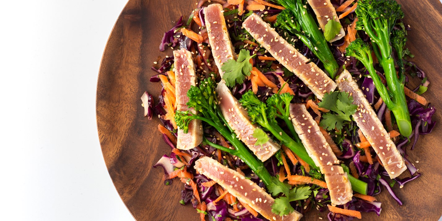 Grilled Tuna Steak Recipe With Coleslaw Great British Chefs