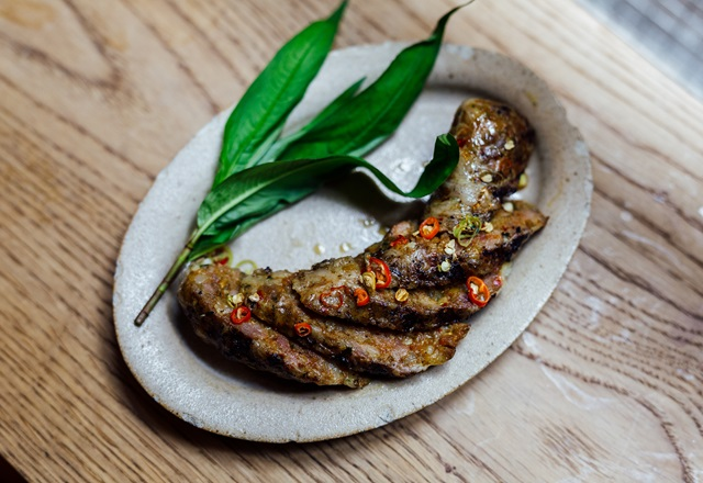 Pork Sausages with Peas and Berkswell Recipe - Great British
