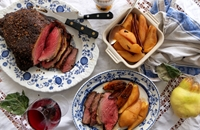 Roast picanha with spiced quince