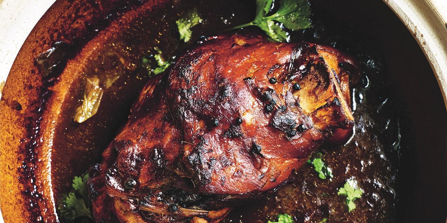 Braised Ham Hock Recipe in Yellow Bean Sauce - Great British Chefs
