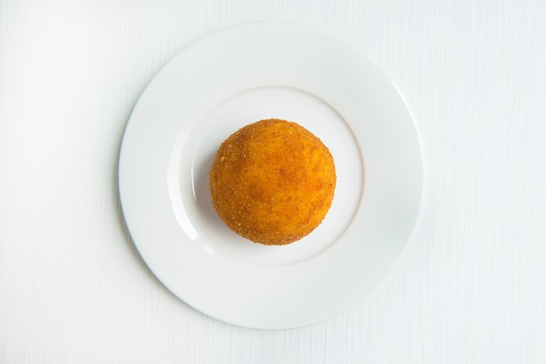 Ricotta-filled arancino