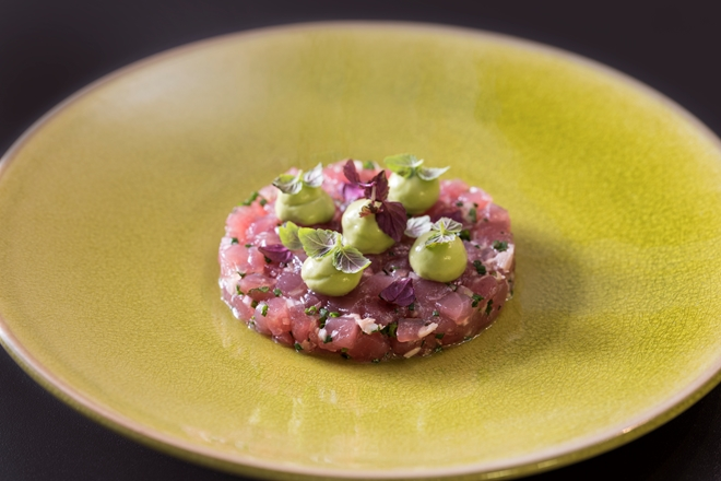 Mind to Menu: Gary Foulkes' tuna tartare with avocado, wasabi and shiso