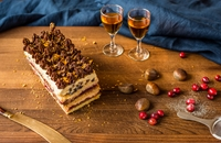Trifle terrine cake