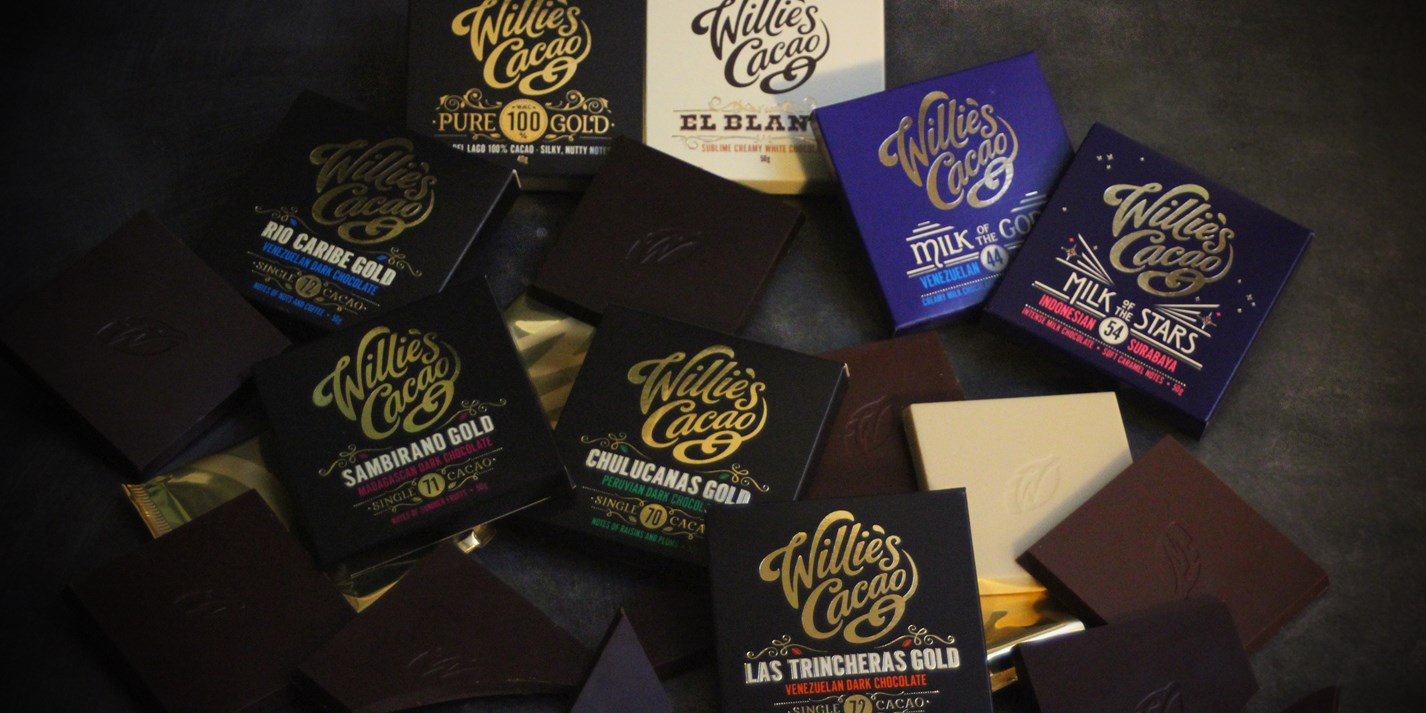 Join us for a live chocolate tasting with Willie's Cacao
