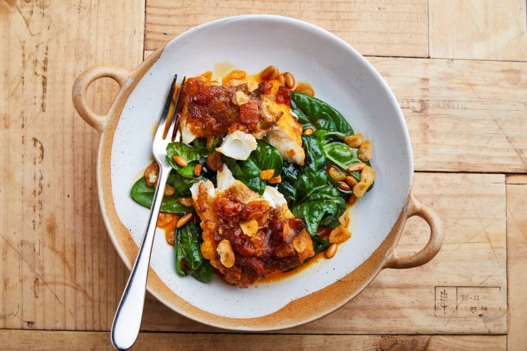 Fried Cod Loin With Piment 243 N Recipe Great British Chefs