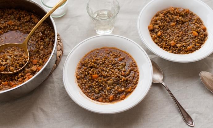Zuppa di lenticchie di Castelluccio