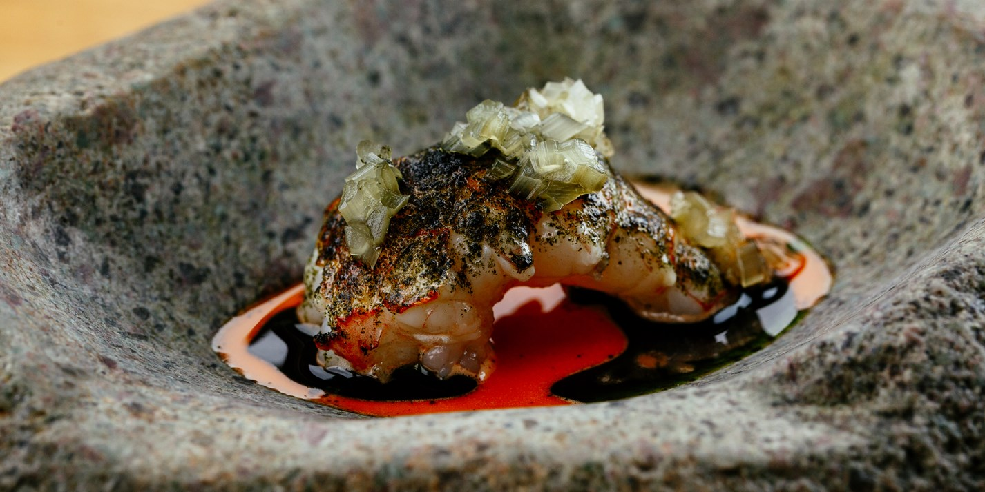 Grilled Langoustine with Prawn Head Soy Recipe - Great British Chefs
