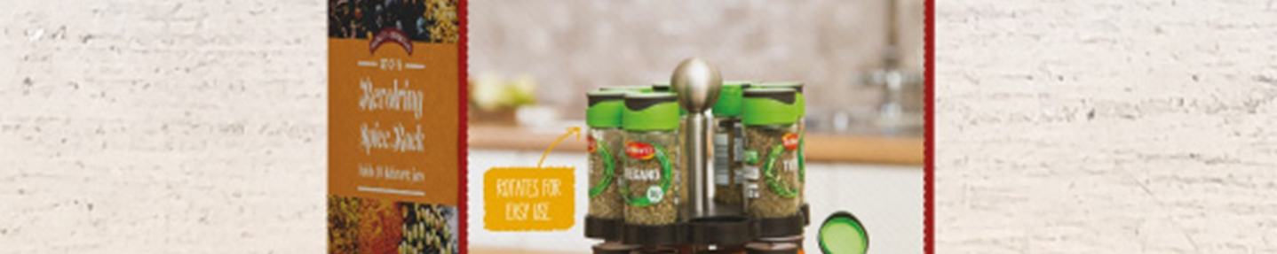 Win 1 of 20 spice rack sets worth £59.99 each