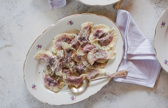 Casunziei all'ampezzana – beetroot stuffed ravioli with poppy seeds
