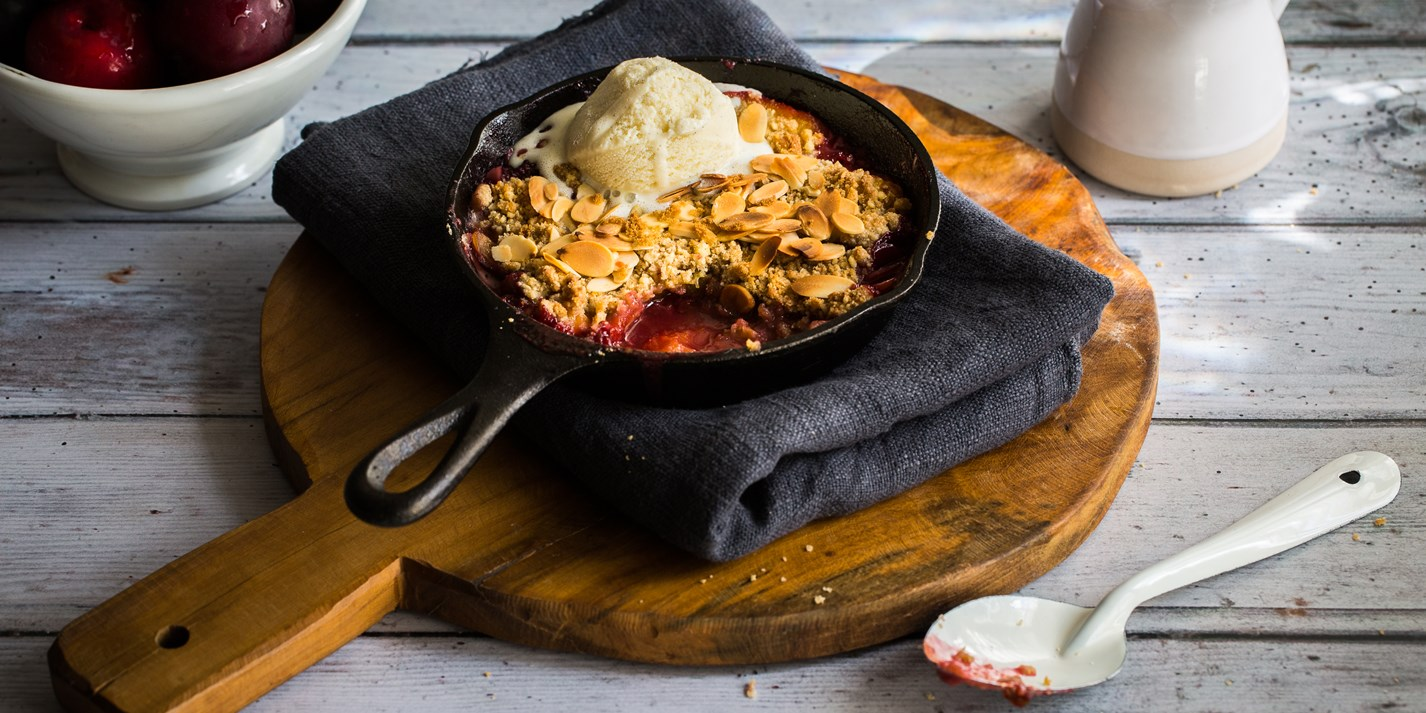 Ultimate Plum Crumble Recipe - Great British Chefs