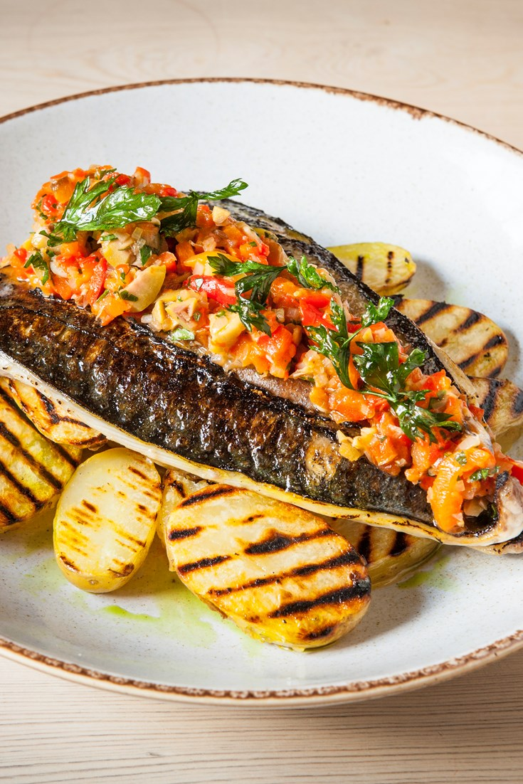Grilled Mackerel Recipe With Chargrilled Potatoes Great