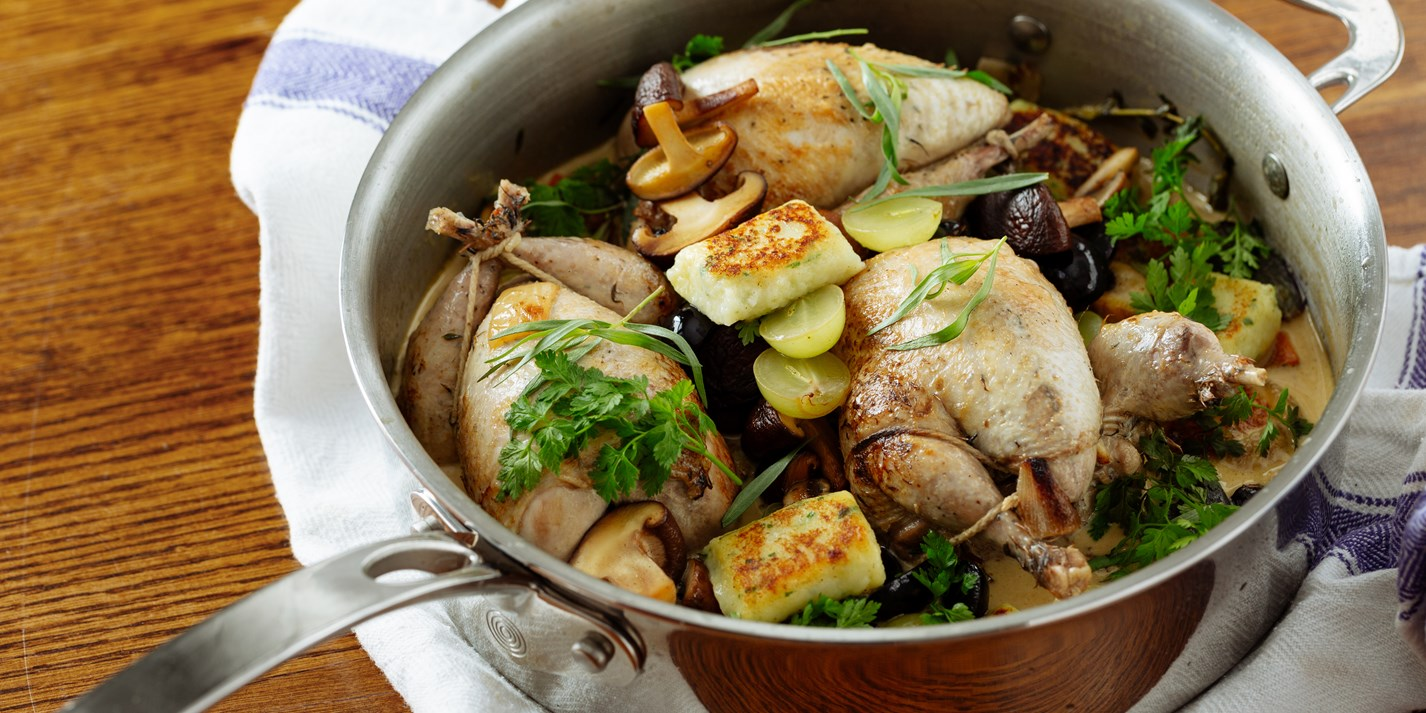 Pot-Roasted Partridge Recipe with Grapes - Great British Chefs
