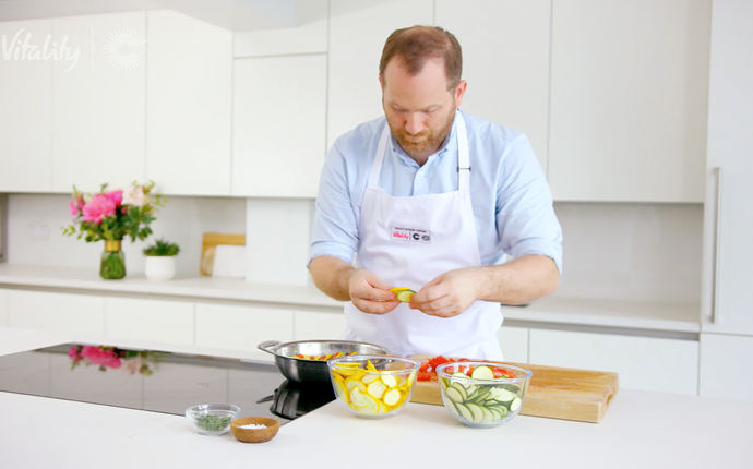 Live and cooking with Bryn Williams: superstar veg