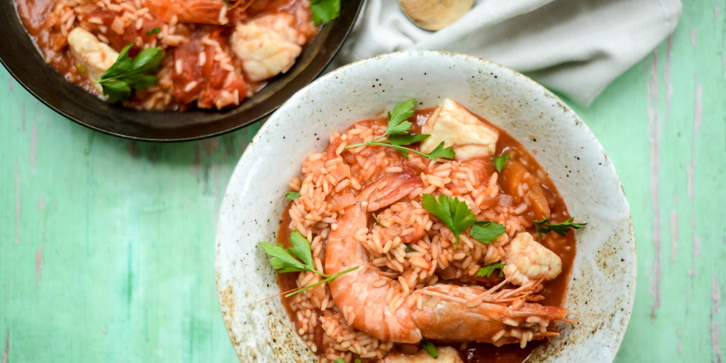 Tomato, Rice and Seafood Stew Recipe - Great British Chefs