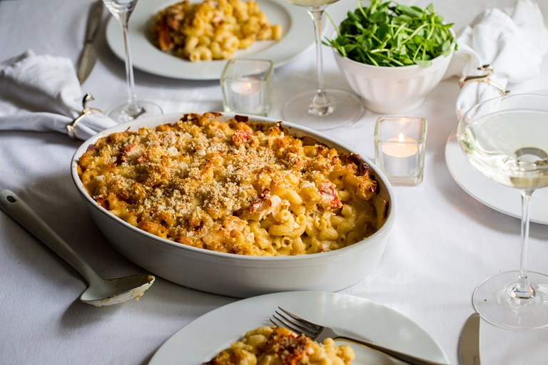 Lobster and Gruyere macaroni cheese