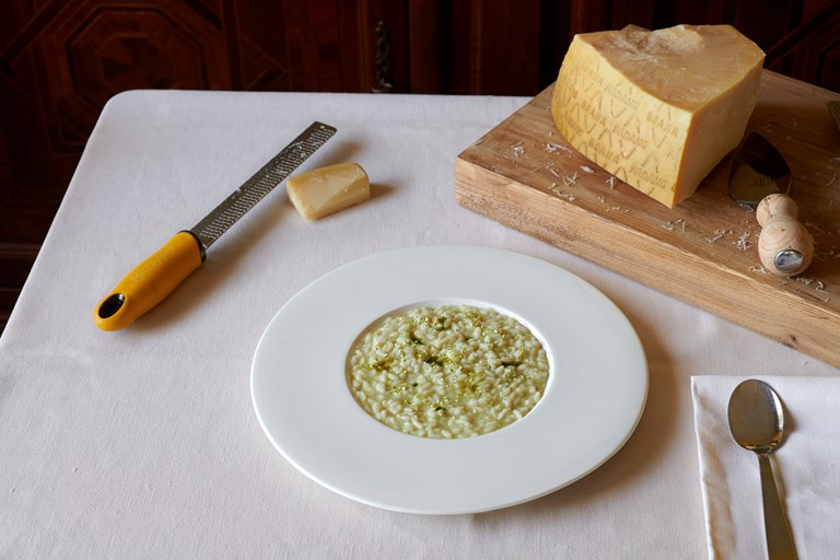 Butter and sage Carnaroli risotto with lime and Grana Padano