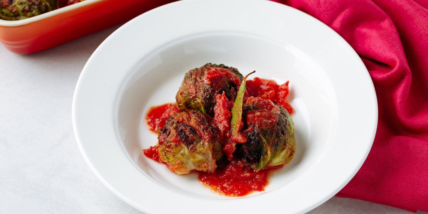 Beef-Stuffed Cabbage Rolls Recipe - Great British Chefs