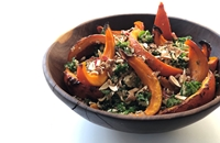 Sweet chilli onion squash with quinoa and kale