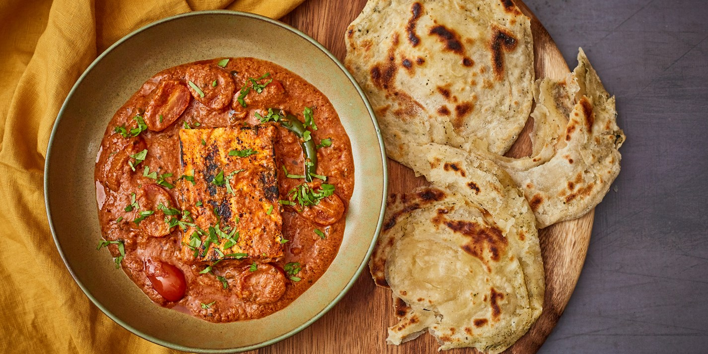 Makhni Paneer with Mint Parathas Recipe - Great British Chefs