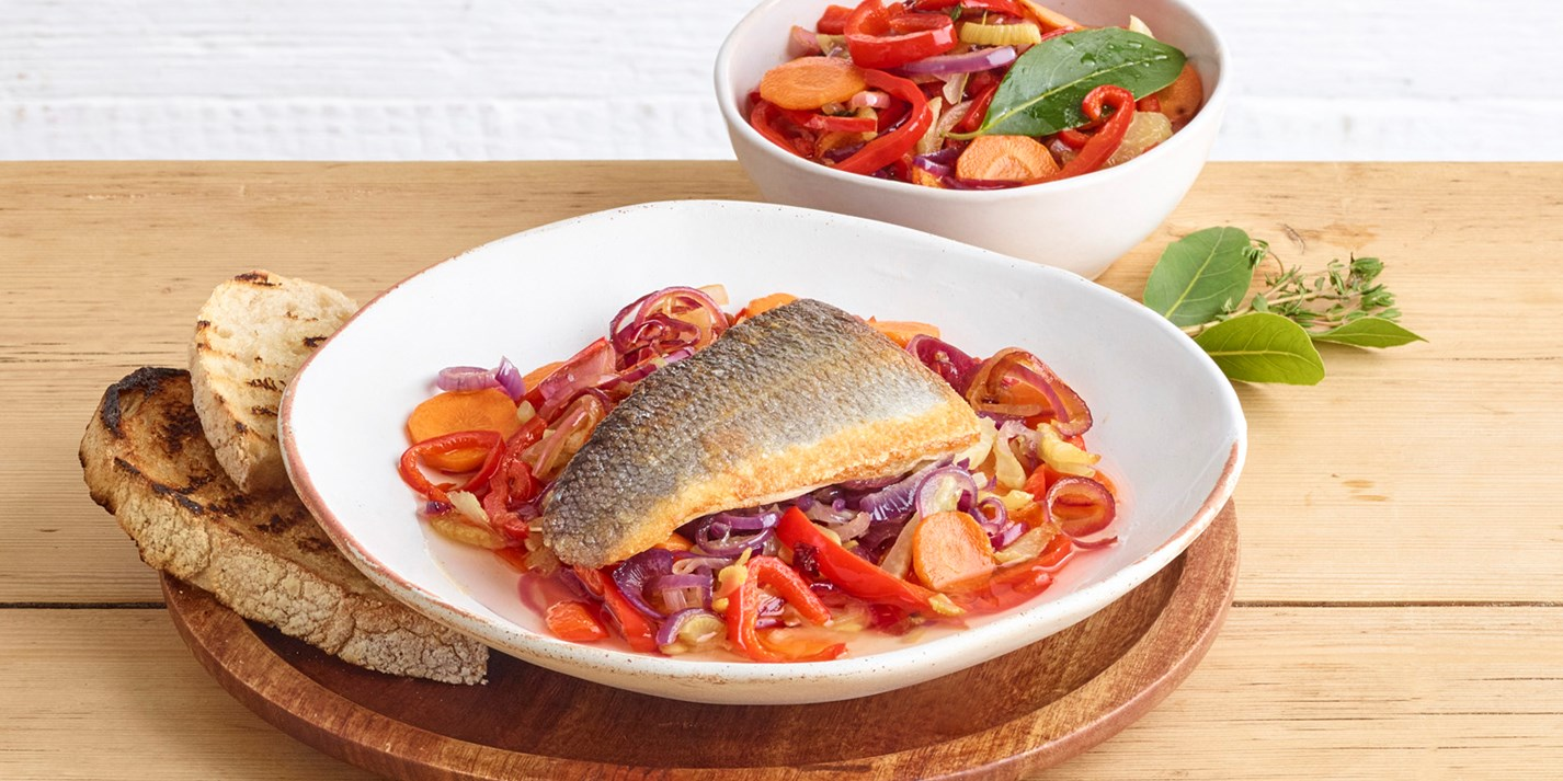 Quick-Pickled Sea Bass Escabeche Recipe - Great British Chefs