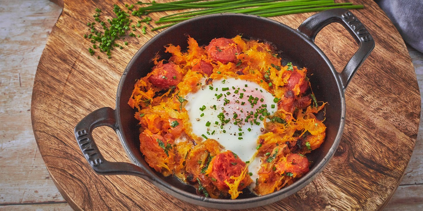 Chorizo and Spaghetti Squash Hash Recipe - Great British Chefs