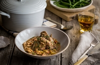 Rabbit with apple, cider and tarragon
