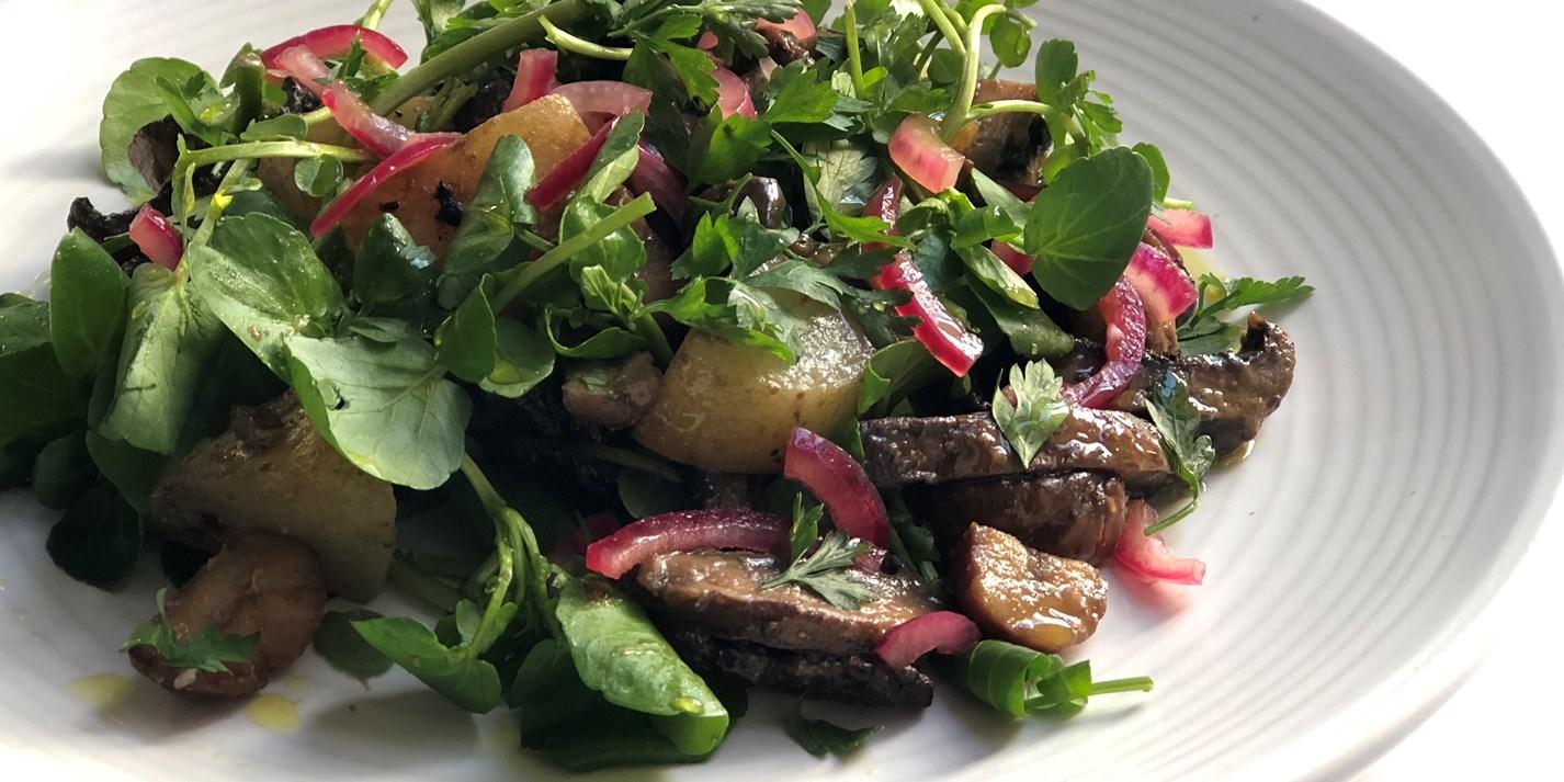 Miso-Roasted Mushroom and Chestnut Salad Recipe - Great British Chefs