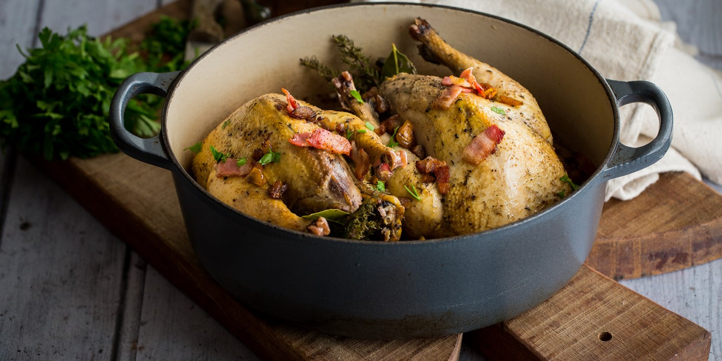 Braised Pheasant Recipe with Chestnuts - Great British Chefs