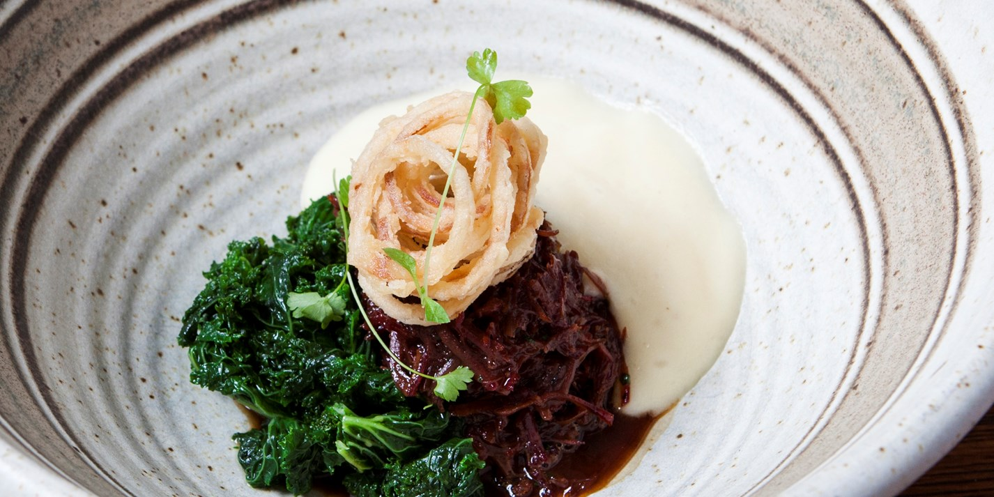 Ox Cheek Cottage Pie with Potato Mousse Recipe - Great British Chefs