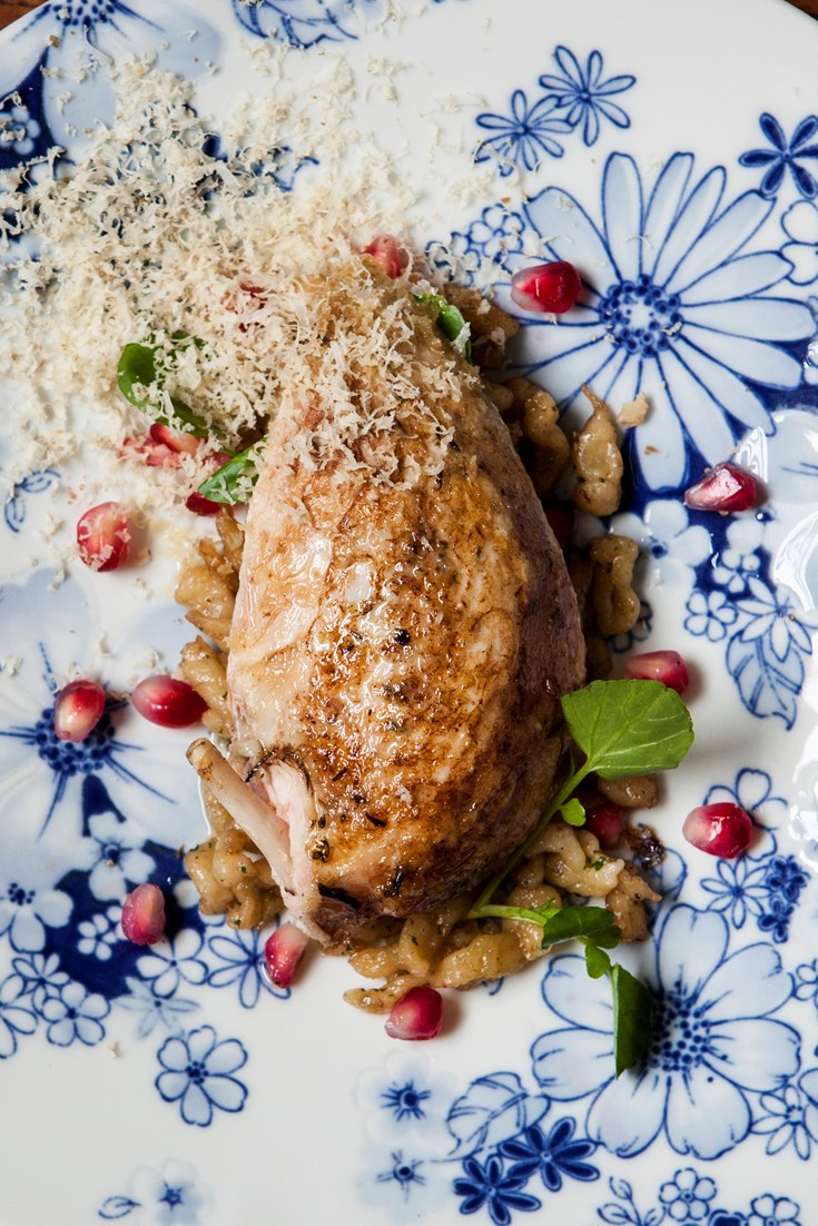 Roasted Partridge Recipe with Spätzle - Great British Chefs