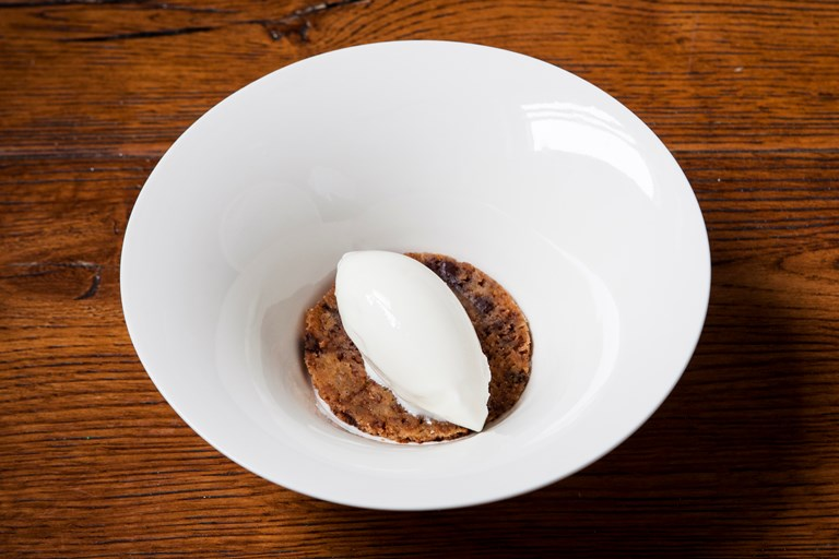 Richard Bainbridge's milk and cookie