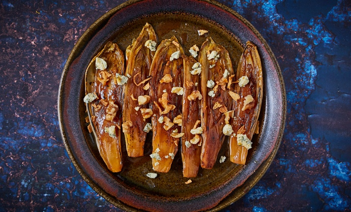 Caramelised chicory with orange and star anise