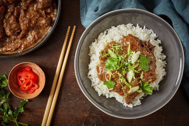 Braised beef with five-spice and star anise