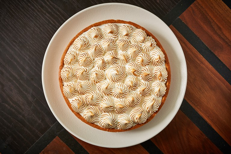 Meyer lemon meringue tart