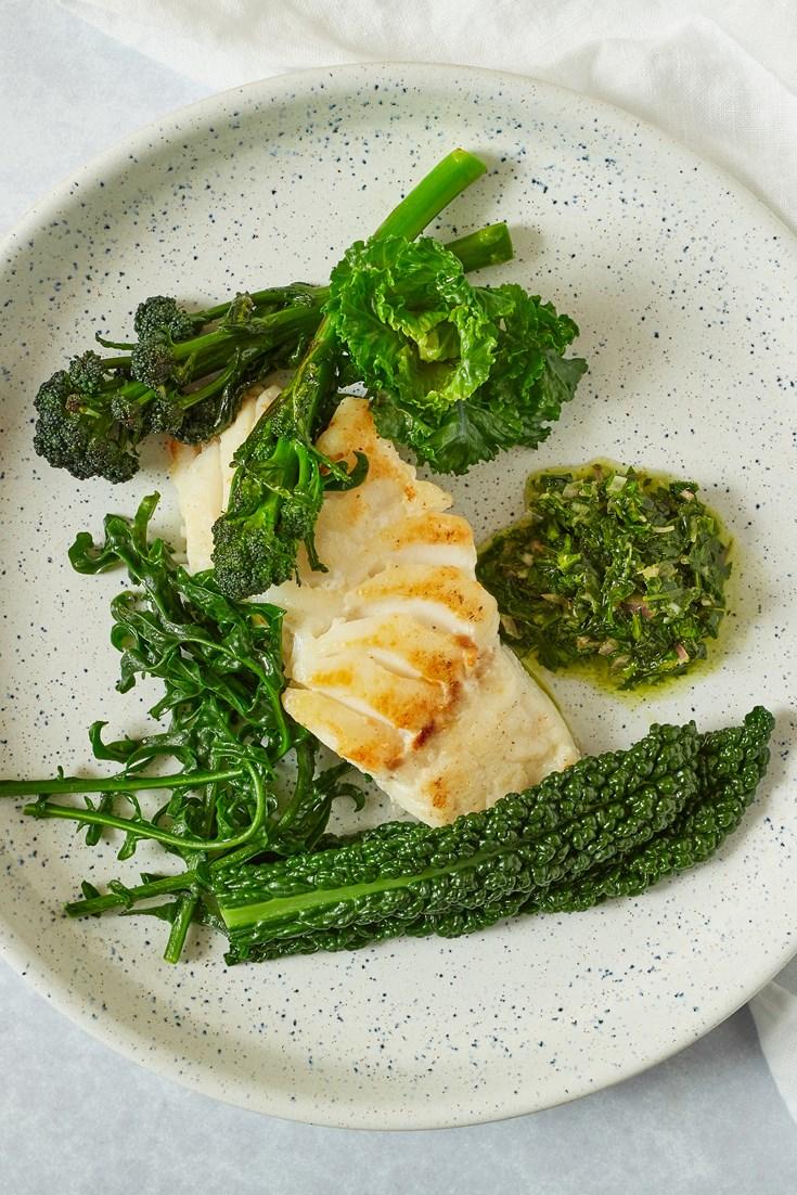 Skrei with Tarragon Salsa Verde Recipe - Great British Chefs