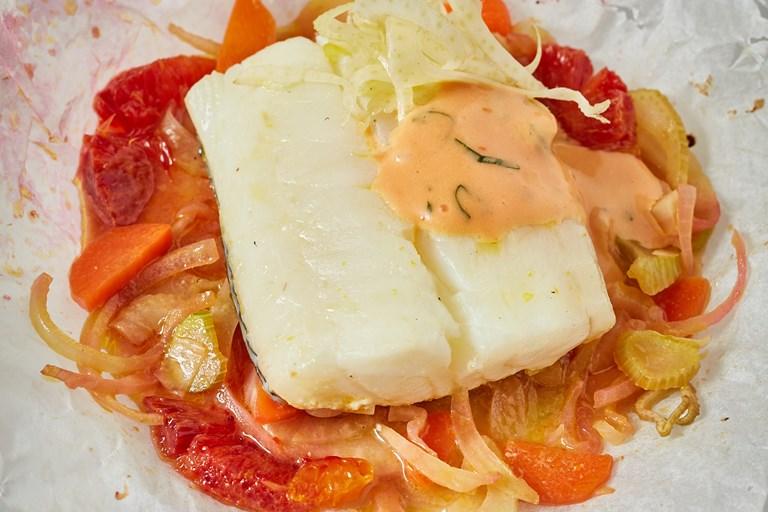 Steamed Haddock With Blood Orange Hollandaise Recipe Great British Chefs