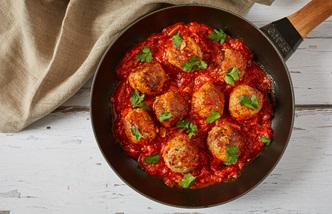 Polpette alla Mammolese – pork and goat's cheese meatballs