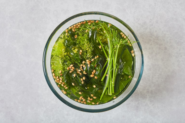 Soft herb brine for fish