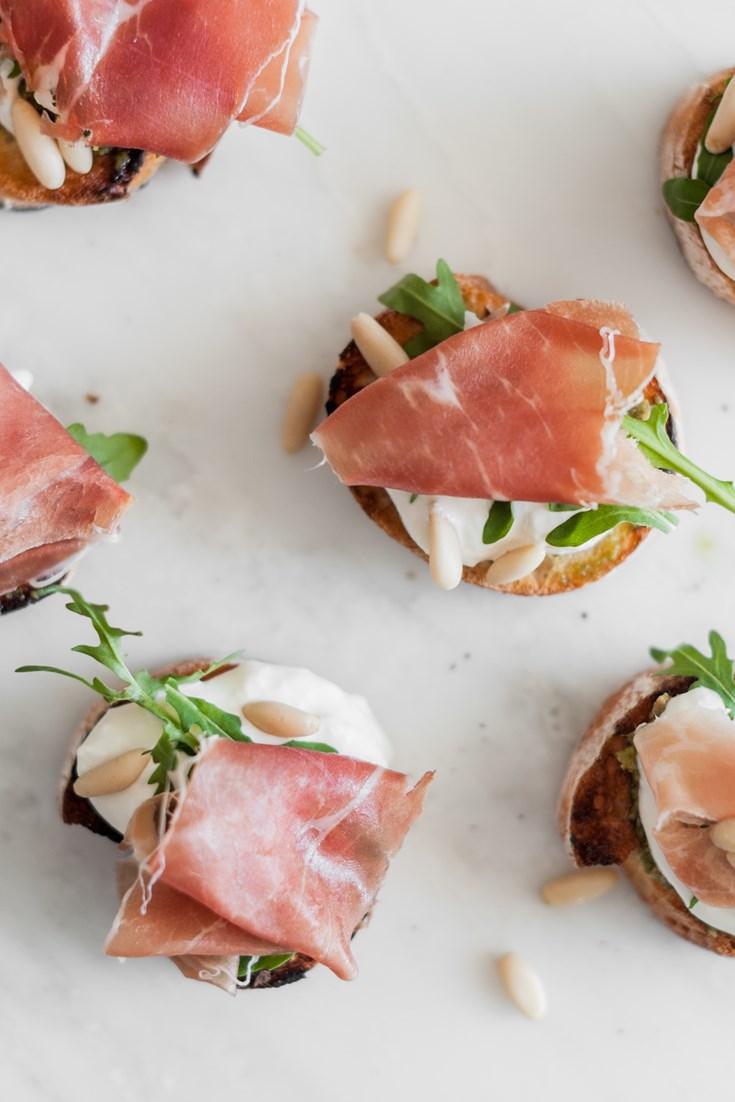 Parma Ham Crostini Recipe - Great Italian Chefs