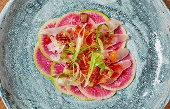 Sea bass and blood orange ceviche