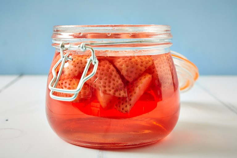 Strawberry gin