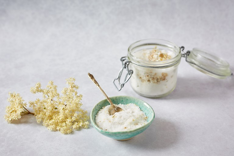 Elderflower sugar