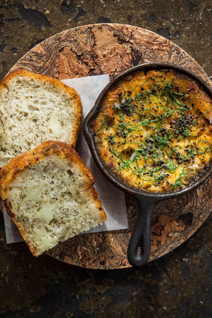 Black Sea Fondue with Hellim Loaf Recipe - Great British Chefs