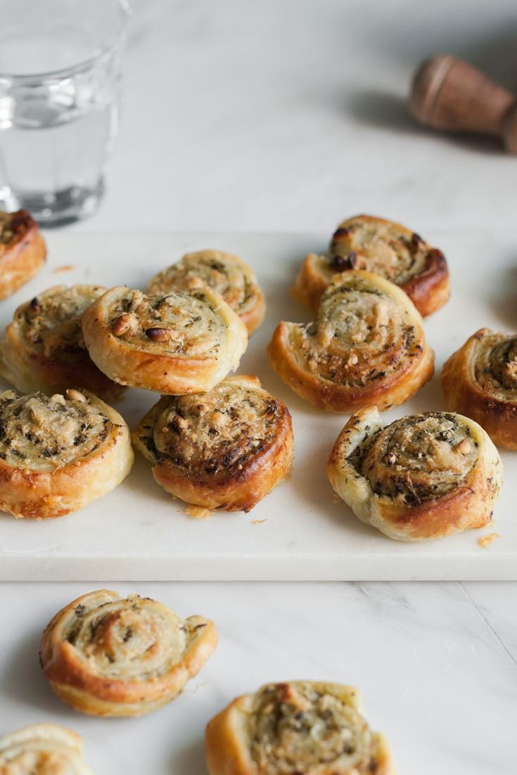 Pastry Snails with Pesto and Grana Padano Recipe - Great Italian Chefs
