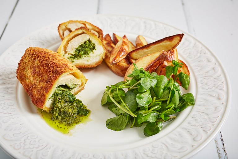 Watercress chicken kiev